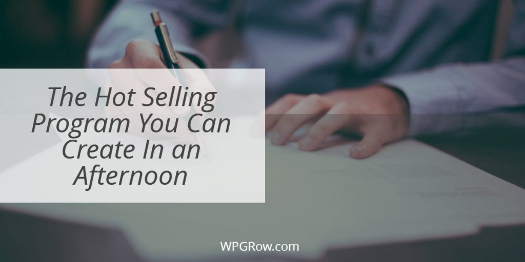The Hot Selling Program You Can Create In an Afternoon -