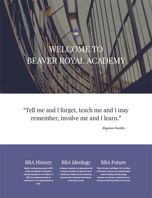 beaver royal academy template 1 -