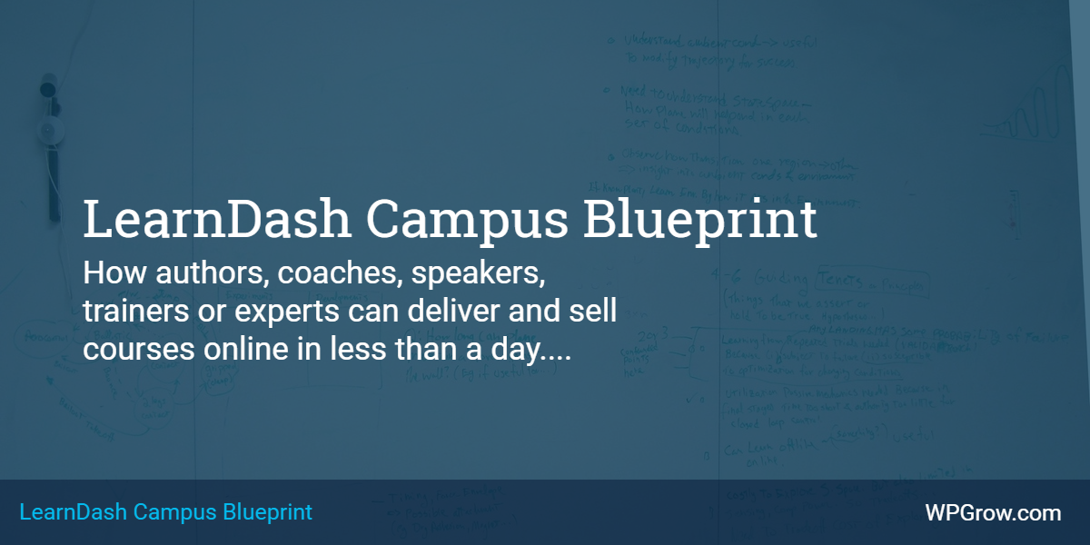 LearnDash Campus Blueprint Course