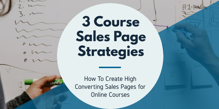 AB 3 Types of Course Sales Pages
