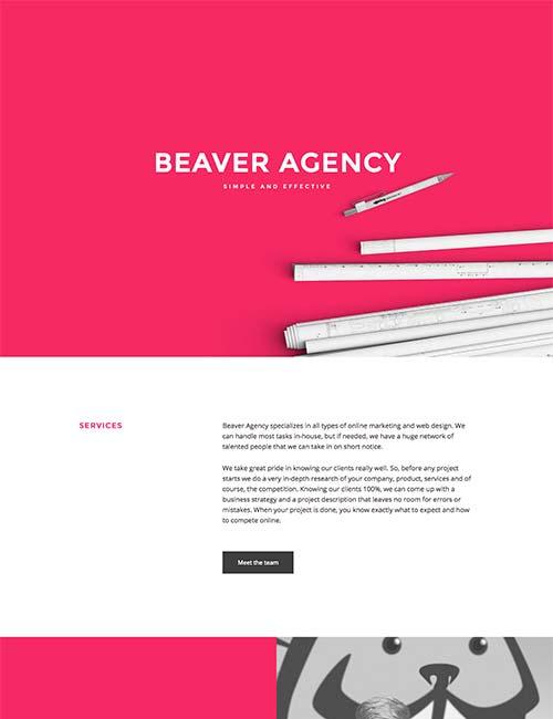 beaver agency template 1 -