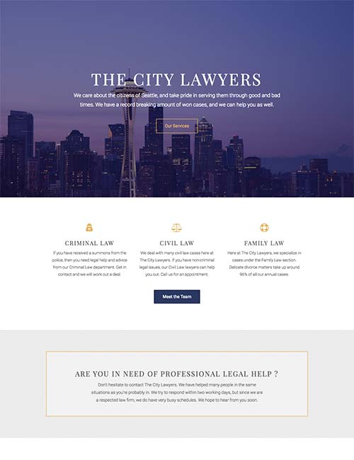 city lawyers template 1 -